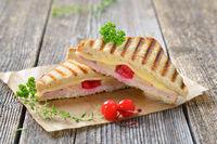 Hot sandwich Hawaiian style