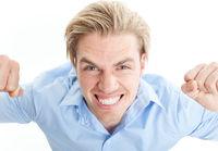 closeup face businessman