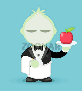 Vegetarian Waiter Cartoon