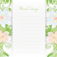 Floral card invitation template. Flower design