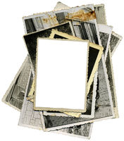 Old Photo Paper Cutout Template