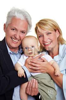 Baby mit Familie