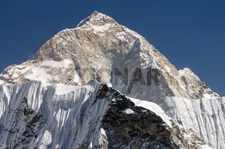 Makalu, the West Face. World's fifth highest mounain.