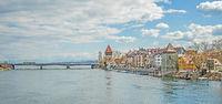 Rheinbrücke mit Rheintorturm und Pulverturm Konstanz