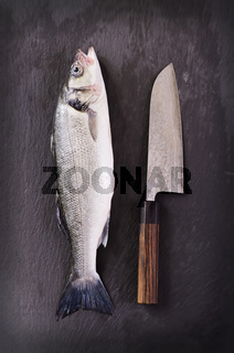 fish with santoku knife