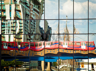 DLR train reflection