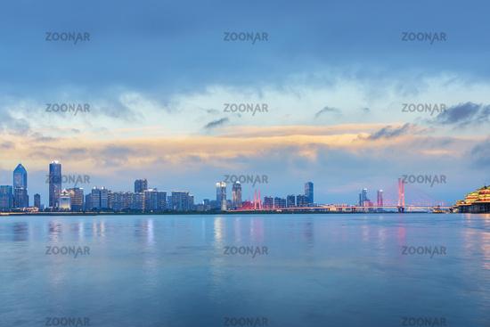 beautiful twilight scene in nanchang