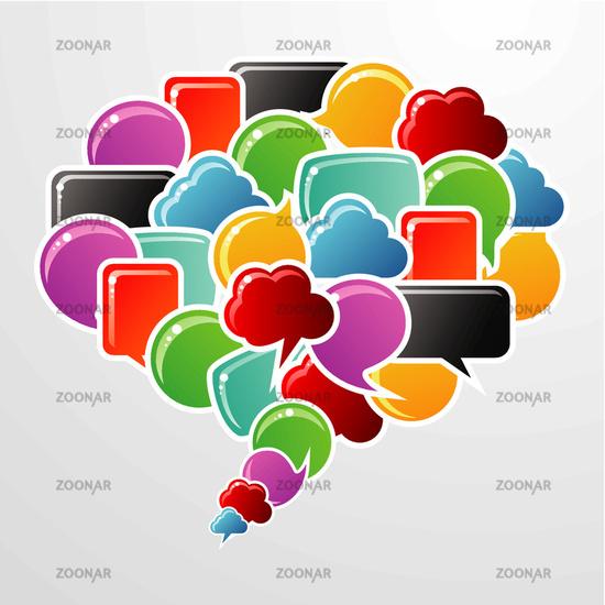 Social media bubbles in communication speech