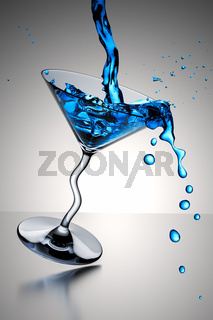 cocktail glass splash