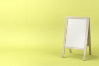 Menu display board with wooden frame