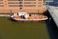 Hamburg, Sandtor Harbor, Water boat, Germany