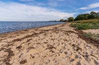 The beach in Gahlkow, Mecklenburg-Western Pomerania, Germany