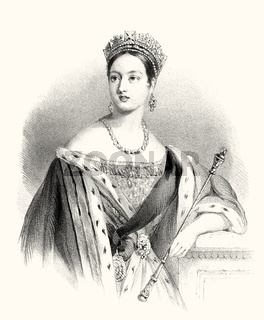 Queen Victoria or Alexandrina Victoria, 1819 - 1901, Queen of the United Kingdom of Great Britain and Ireland, Empress of India