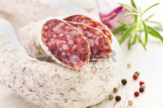 air dried mold salami