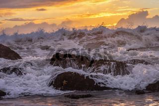 Sunset at a Rocky Beach, Northern California Coast