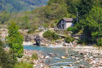 Fluss Verzasca, Verzascatal, Tessin, Schweiz, Europa - Verzasca river, Verzasca valley, Ticino, Switzerland, Europe