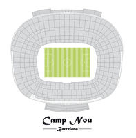 Flor plan of the Stadium Camp Nou in Barcelona