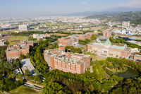 aerial view of Asia University