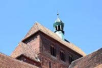 The Western tower of the Romanesque cathedral in Havelberg