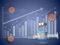 Syringe, vaccine and graphic
