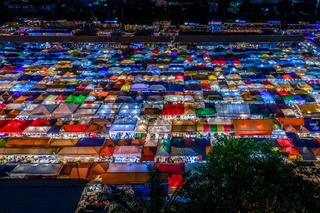 Night view of Talat lot Phi Ratchada (Thailand)