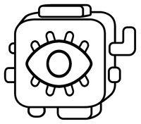 Eye Spy Device Block Abstract