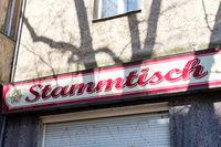 German Bar Sign
