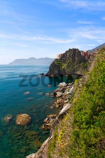 Coastline at Manarola, Cinque Terre, Italy