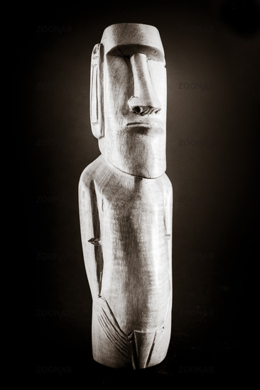 Traditional statue of a moai from Easter Island