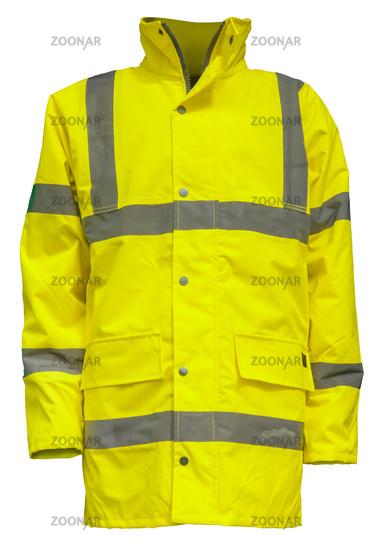 Isolated Yellow Hi-Vis Jacket