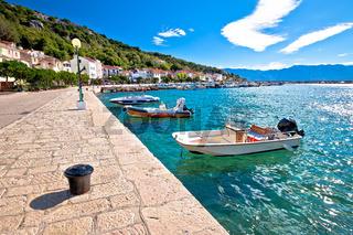 Town of Baska waterfront view. Island of Krk