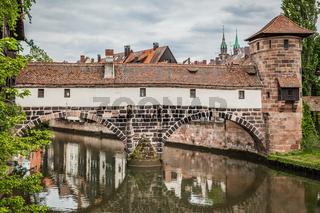 Old bridge in the Old town of Nuremberg