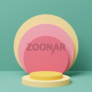 Abstract 3D illustration with a space for a product