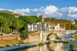 Pons Cestius, Rome, Italy