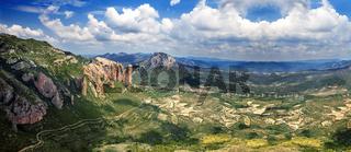 Beautiful mountain landscape panorama.