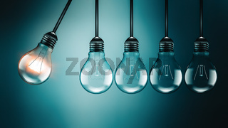 Motivation concept image with light bulbs