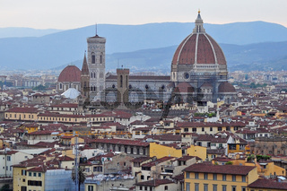 Duomo in Florence, Italy at sunset
