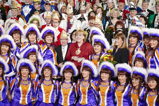Merkel receives the Federation of German Carnival