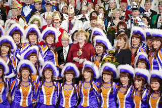 Merkel receives the Federation of German Carnival at the Chancellery