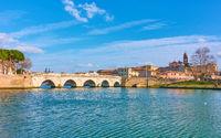 Rimini with the Bridge of Tiberius