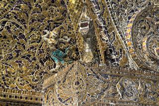 Kunstvolles Glasmosaik, Wat Xieng Thong, Luang Prabang, Laos