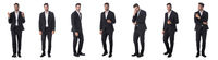 Set of young business man portraits