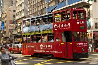 Doppelstock-Strassenbahnwagen, Hongkong