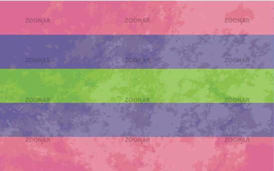 Trigender sign, trigender pride flag