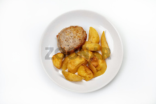 Meat With Fried Potatoes
