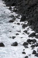 canarian iland La Palma, black stones on the beach