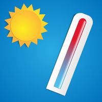 Hot sun with thermometer