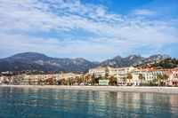Menton Resort Town on French Riviera