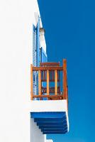 Balcony in Greek cycladic house