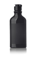 Black cosmetic bottle with blank label